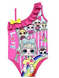 ราคาถูก -ชุดว่ายน้ำ ชุดว่ายน้ำชุดคอสเพลย์ สาวบี สำหรับเด็ก คอสเพลย์และคอสตูม คอสเพลย์ วันฮาโลวีน สีม่วง / สีบานเย็น / สีชมพู การ์ตูน Polyster เด็กผู้หญิง วันคริสต์มาส วันฮาโลวีน เทศกาลคานาวาล
