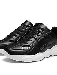 baratos -Homens Sapatos Confortáveis Microfibra Primavera Tênis Corrida Branco / Preto