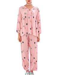 abordables -V Profond Costumes Pyjamas Femme Couleur Pleine