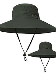 Недорогие -TCAHCC Шляпа для туризма и прогулок Рыбалка Шляпа Широкий край 1 ед. Защита от солнечных лучей Устойчивость к УФ Дышащий Ультрафиолетовая устойчивость Сплошной цвет Нейлон Осень для Муж. Жен.