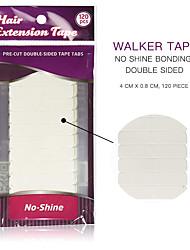 お買い得  -10 * 12ピース/ロット白なし輝きヘアエクステンションテープ接着剤両面テープ防水用ヘアエクステンション/レースウィッグ/トゥーピー