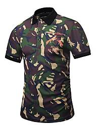 economico -Polo Per uomo Camouflage Verde militare XL