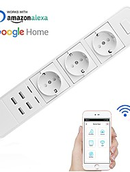 billige -Stik / Smart Plug Timing Funktion / med USB-porte / Quick Charge 2.0 1pc ABS + PC / 750 ° C APP / Radar Control / Andriod 4,2 ovenfor Amazon Alexa Echo / Google Assistant / Rede