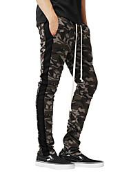abordables -Hombre Básico Pantalones de Deporte Pantalones - Patrón Negro