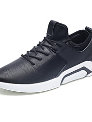 cheap -Men's Comfort Shoes Synthetics Spring Sporty / Casual Sneakers Running Shoes / Walking Shoes Height-increasing White / Black / Black and White