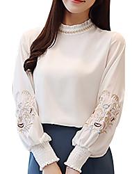 hesapli -Kadın's Tişört Solid Beyaz L