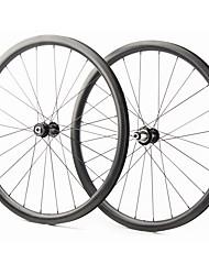 Недорогие -FARSPORTS 700CC Колесные пары Велоспорт 28 mm Шоссейный велосипед Углеродное волокно Подходит для клинчерной покрышки / бескамерной шины 24/24 Спицы Прочее / 30 mm