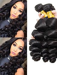 Недорогие -4 Связки Индийские волосы Свободные волны Не подвергавшиеся окрашиванию 100% Remy Hair Weave Bundles Головные уборы Человека ткет Волосы Пучок волос 8-28 дюймовый Нейтральный Ткет человеческих волос