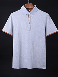cheap -Men's Polo - Solid Colored White XXL