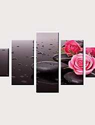 お買い得  -プリント キャンバス地プリント - 現代風 花柄 / 植物の ヴィンテージ 近代の 5枚