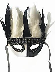 preiswerte -Superheld Cosplay Kostüme Maske Kinder Erwachsene Herrn Cosplay Halloween Halloween Karneval Maskerade Fest / Feiertage Spitze Feder Schwarz Karneval Kostüme Feder Spitze