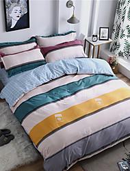 olcso -Paplan Cover állítja Stripes / hullámai / Kortárs Polyster Nyomtatott 4 darabBedding Sets