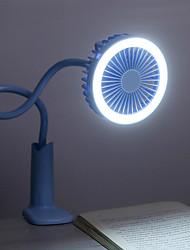 זול -brelong נייד מיני מעריץ אוהד עם אור לילה נטענת USB בית מעונות משרד נסיעות בחוץ כף יד 1pc 5v
