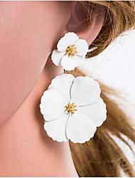 cheap -Women's Multicolor Geometrical Drop Earrings Earrings Flower European Jewelry Beige / White For Daily 1 Pair