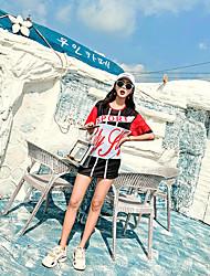 رخيصةأون -نسائي بدلات الغطس العميق حماية من الأشعة فوق البنفسجية متنفس خفيف جدا (UL) نايلون نصف كم ملابس السباحة ملابس الشاطئ ملابس السباحة بقع 3قطع سباحة / عالية المرونة