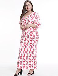 ieftine -Pentru femei Boho Elegant Teacă Rochie - Imprimeu Cordon, Imprimeu Paisley Maxi
