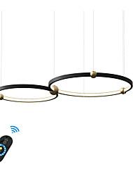 Недорогие -подвесной светильник с новым дизайном для гостиной, кафе / с регулируемым алюминиевым шнуром / теплый белый / белый / с возможностью затемнения с пультом дистанционного управления