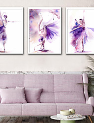 cheap -Framed Canvas Framed Set - People Plastic Illustration Wall Art