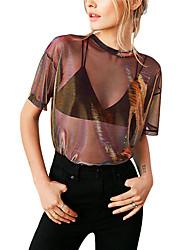 economico -T-shirt Per donna Tinta unita Argento M
