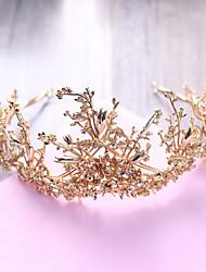 Χαμηλού Κόστους -Κράμα Τιάρες με Λουλούδι 600-Συσκευασία Γάμου / Πάρτι / Βράδυ Headpiece