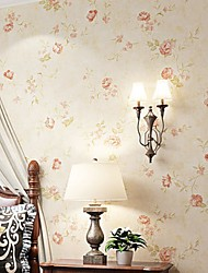 Χαμηλού Κόστους -ταπετσαρία Nonwoven Κάλυψης τοίχων - κόλλα που απαιτείται Άνθινο / Βοτανικό