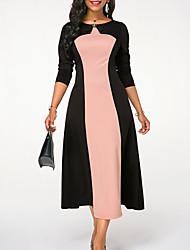 baratos -midi das mulheres uma linha vestido roxo blushing rosa azul s m l xl