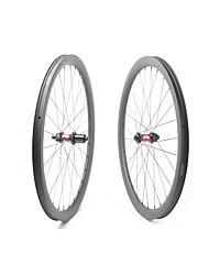 Недорогие -FARSPORTS 700CC Колесные пары Велоспорт 30 mm Шоссейный велосипед Углеродное волокно Подходит для клинчерной покрышки / бескамерной шины 28/28 Спицы 40 mm