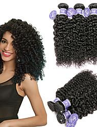 Недорогие -6 Связок Малазийские волосы Кудрявый Kinky Curly 100% Remy Hair Weave Bundles Головные уборы Человека ткет Волосы One Pack Solution 8-28 дюймовый Естественный цвет Ткет человеческих волос