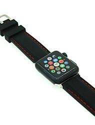 voordelige -Horlogeband voor Apple Watch Series 4/3/2/1 Apple Klassieke gesp Silicone Polsband