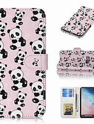 cheap -Case For Samsung Galaxy S9 Plus / S8 Plus Wallet / Card Holder / Flip Full Body Cases Panda Hard PU Leather for S9 / S9 Plus / S8 Plus