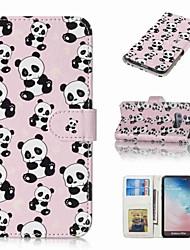 billiga -fodral Till Samsung Galaxy S9 Plus / S8 Plus Plånbok / Korthållare / Lucka Fodral Panda Hårt PU läder för S9 / S9 Plus / S8 Plus