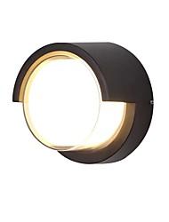 baratos -QIHengZhaoMing LED / Contemporâneo Moderno Lâmpadas de Parede de Exterior Lojas / Cafés / Escritório Metal Luz de parede 110-120V / 220-240V 12 W