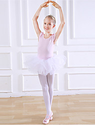 cheap -Kids' Dancewear / Ballet Dresses Girls' Training / Performance Cotton Split Joint Short Sleeve Natural Dress