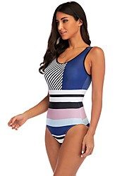 economico -Per donna Blu Rosa Bikini Costumi da bagno - Monocolore L XL XXL Blu