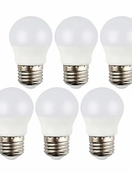 hesapli -3 W LED Küre Ampuller 240 lm E26 / E27 8 LED Boncuklar SMD 2835 Dekorotif Sıcak Beyaz Serin Beyaz 12 V, 6pcs