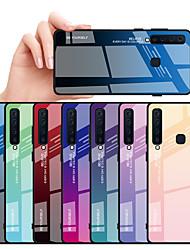 Недорогие -Кейс для Назначение SSamsung Galaxy A6 (2018) / A6+ (2018) / Galaxy A7(2018) Защита от удара Кейс на заднюю панель Градиент цвета Твердый ТПУ / Закаленное стекло