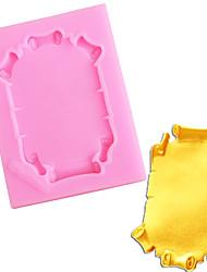 hesapli -Çerçeve kek sınır silikon kalıpları kek dekorasyon araçları kek fondan şeker kil çikolata gumpaste kalıpları