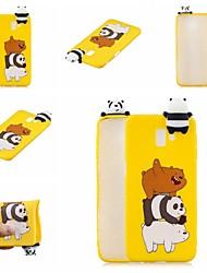 cheap -Case For Samsung Galaxy J7 (2017) / J5 (2017) Pattern Back Cover Animal / Cartoon Soft TPU for J7 (2017) / J7 (2016) / J6 (2018)