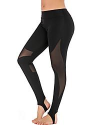 economico -Dancewear sportivo Pantaloni / Yoga Per donna Addestramento / Prestazioni Elastico / Elastene / polyster Più materiali Naturale Pantaloni