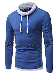 abordables -Hombre Camiseta Un Color Negro XL