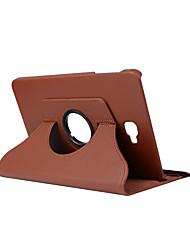 Недорогие -Кейс для Назначение SSamsung Galaxy Tab A 10.1 (2016) Защита от удара / со стендом Чехол Однотонный Твердый Кожа PU