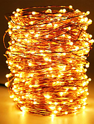 cheap -30m String Lights 300 LEDs Warm White Waterproof / Creative / Party 110-240 V 1 set