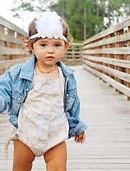 Недорогие -Дети (1-4 лет) Девочки Классический / Милая Однотонный С принтом Акрил Аксессуары для волос Белый Один размер