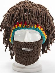 Недорогие -Универсальные Для вечеринки Активный Широкополая шляпа Акрил,Однотонный Контрастных цветов Осень Зима Цвет радуги