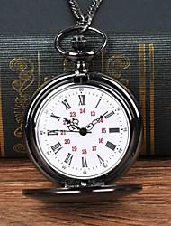 Недорогие -Муж. Карманные часы Кварцевый Черный Повседневные часы Крупный циферблат Аналоговый На каждый день Мода - Черный
