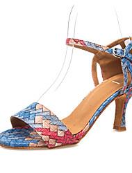 abordables -Mujer Zapatos de Baile Latino Cuero Sintético Tacones Alto Hebilla Slim High Heel Zapatos de baile Arco Iris