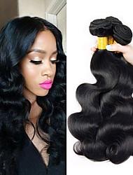 tanie -3 zestawy Włosy brazylijskie Body wave Włosy naturalne remy Fale w naturalnym kolorze Doczepy Pakiet włosów 8-28 in Kolor naturalny Ludzkie włosy wyplata Kreatywne Jedwabisty Bezpieczeństwo Ludzkich