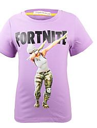 お買い得  -子供 男の子 ベーシック プリント 半袖 ポリエステル Tシャツ ピンク
