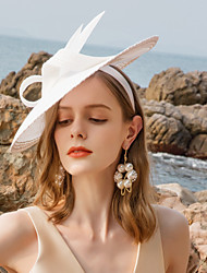 cheap -Polyester Headbands with Feather 1pc Wedding / Party / Evening Headpiece