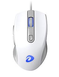 levne -dareu lm107 drátové usb optická herní myš vícebarevná podsvícená 800/1200/2000/3200 dpi 4 nastavitelná úroveň rozlišení 6 ks klíče